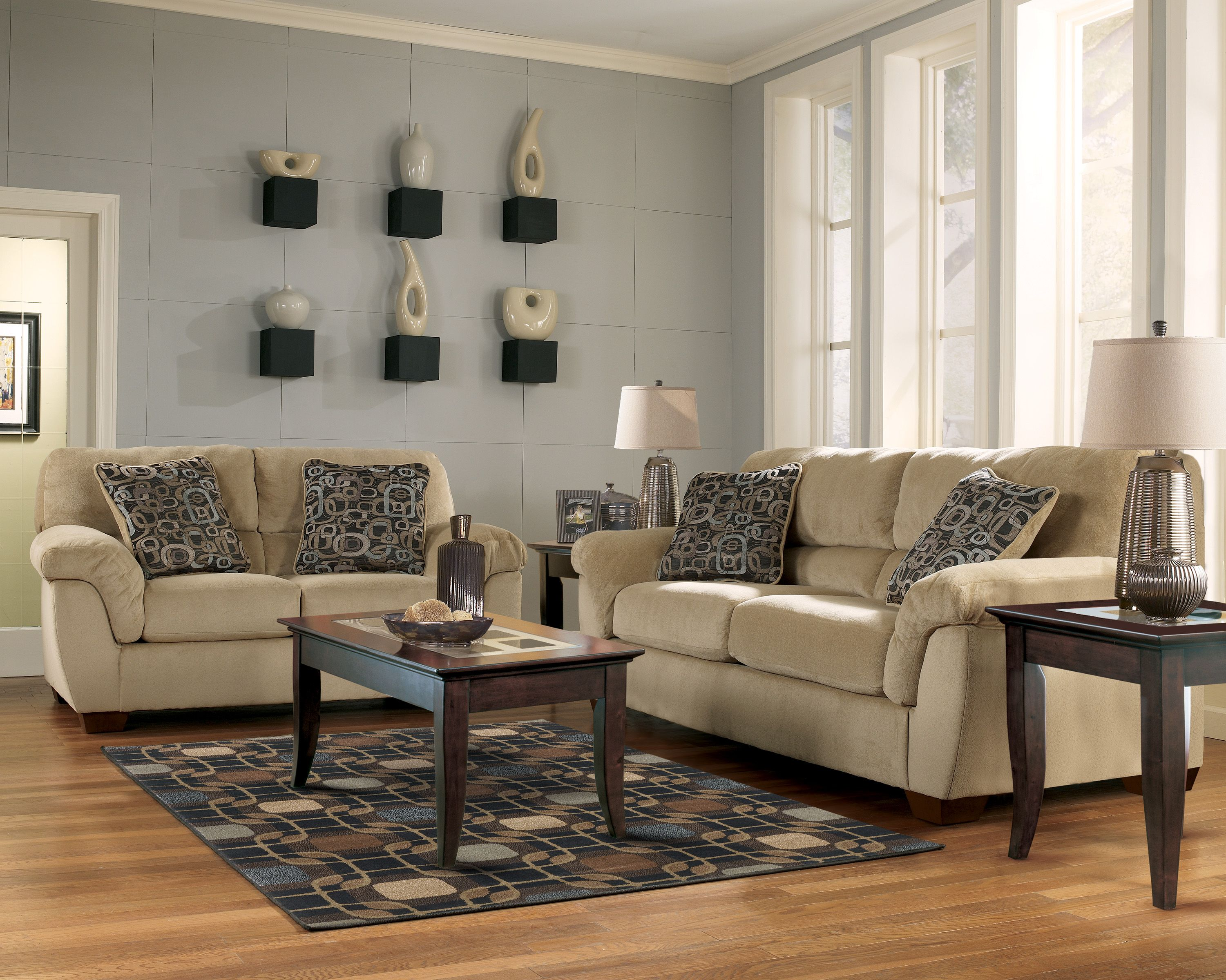 Discontinued Ashley Furniture As 84101 Discontinued 84101 Macie Sandstone Ashley Sofa And Loveseat Unique Living Room Furniture Sofa Decor Ashley Furniture