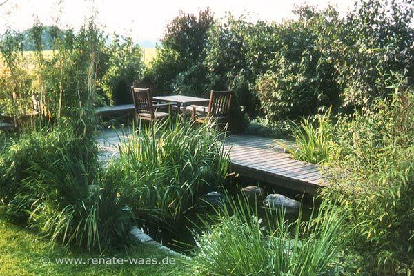 gärten mit wasser - kleiner garten mit teich | garten ideen, Garten und Bauten