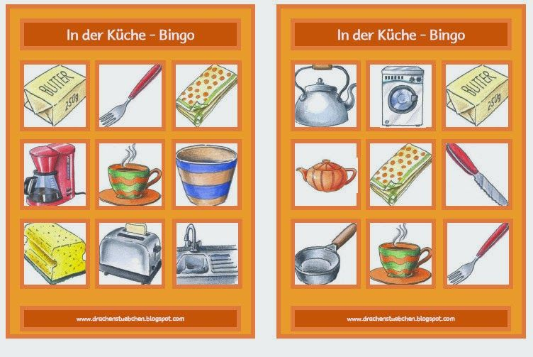 schulsachen k chen kleider bingo logop die bingo games und kindergarten. Black Bedroom Furniture Sets. Home Design Ideas