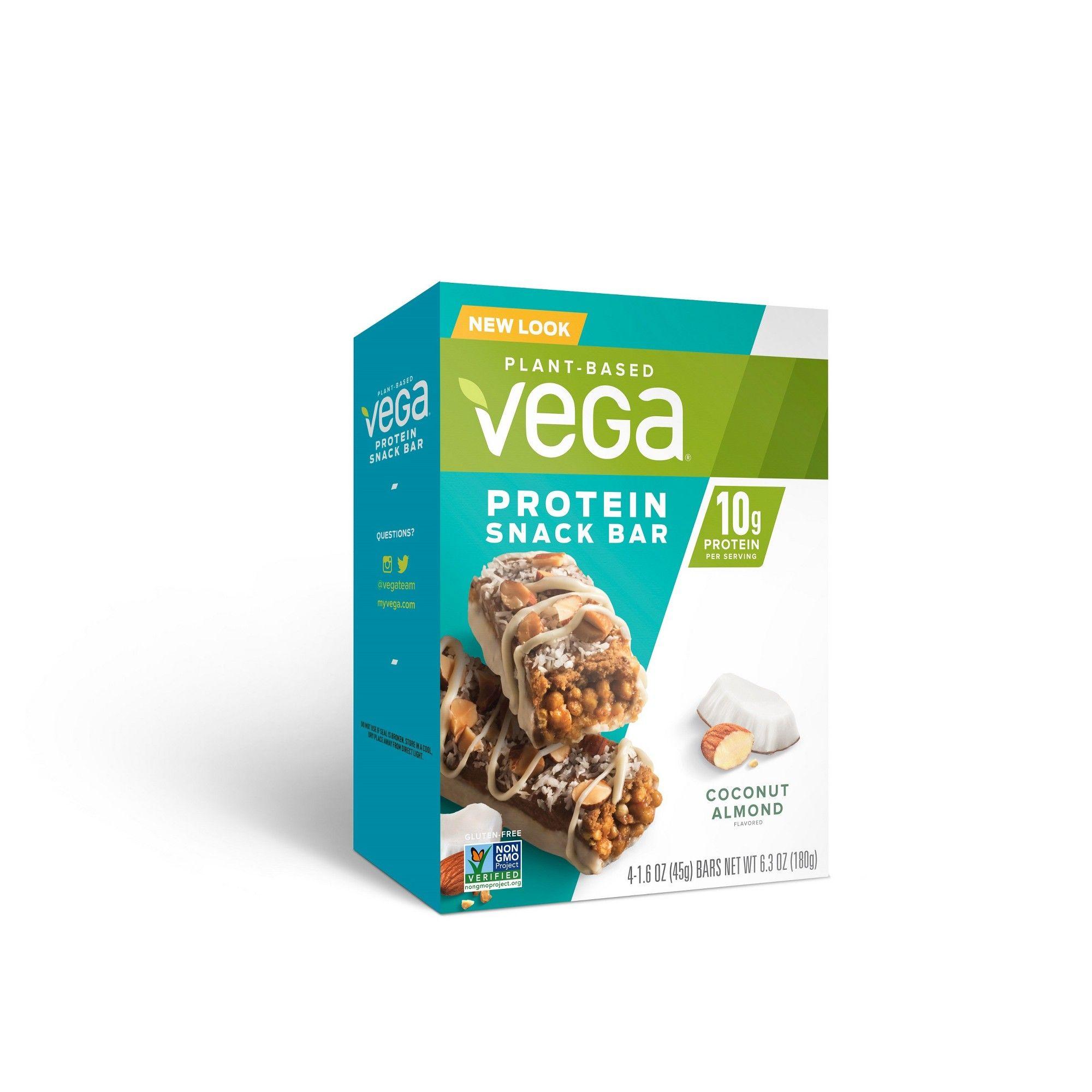 Vega Protein Bar Coconut Almond 4ct Vegan bar