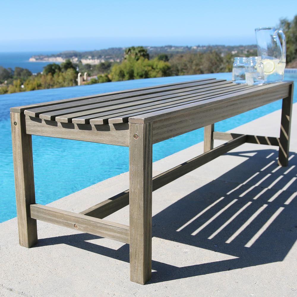 Vifah renaissance ft backless patio bench summer shorts