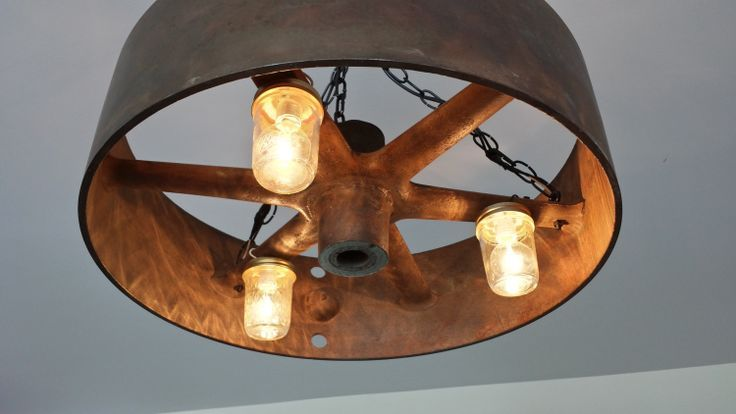 repurposed lighting. Cast Iron Flywheel Repurposed As A Lighting Fixture - 20 Unique Fixtures U