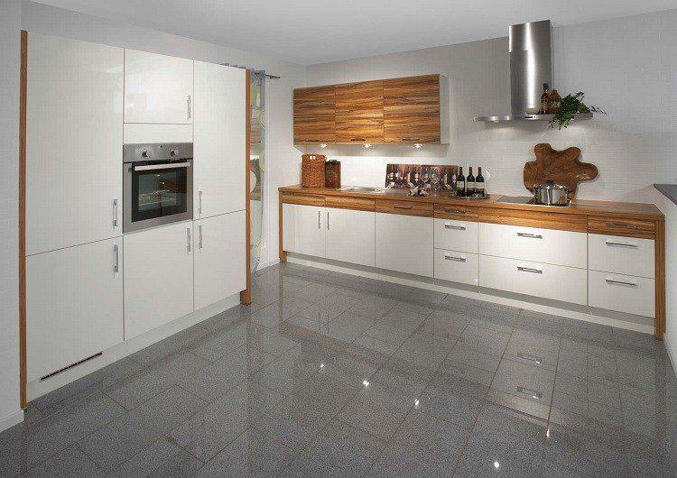 la cuisine blanche et bois a travers 40