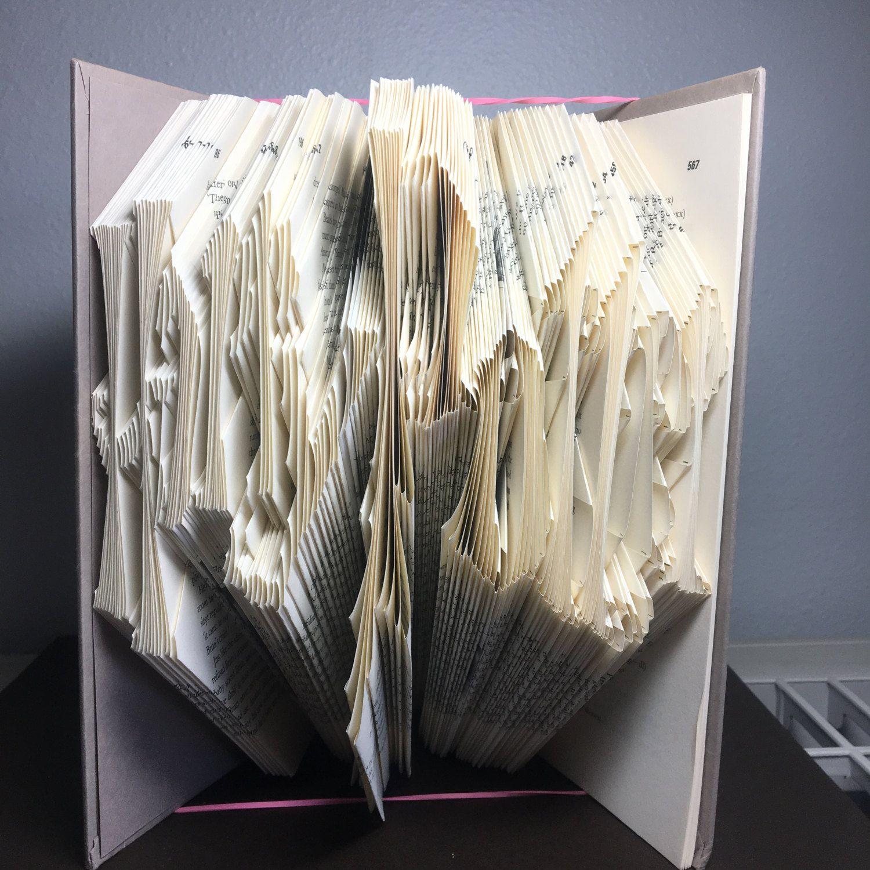 Book Folding Pattern Of Harry Potter By Creativecardsofkaty On Etsy Book Folding Patterns Book Folding Etsy
