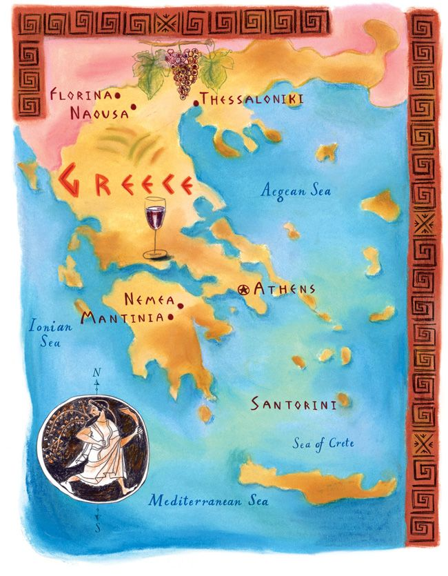 Annb 087278 Greecemapfix Greece Map Illustrated Map Pictorial Maps