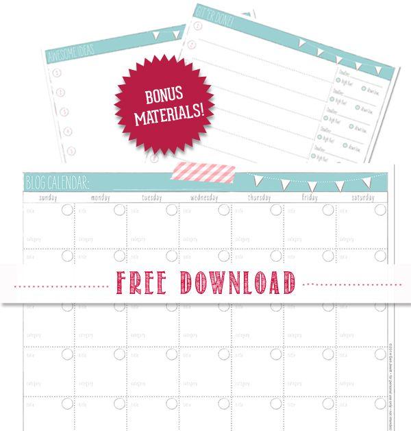 free-editorial-calendar-download Editorial Calendar Pinterest
