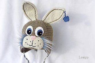 Detské čiapky - prvý jarný zajačik - 5071027_