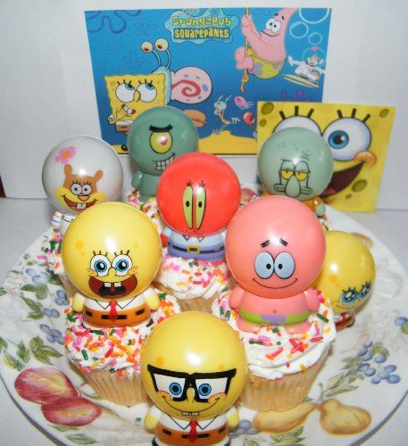 Spongebob And Friends Figure Cake Topper Cupcake Party Decoration