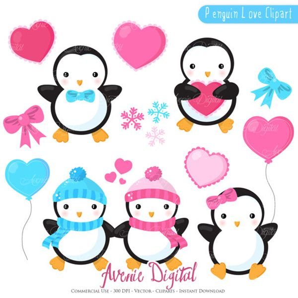 valentines penguins clipart scrapbook printables holiday clip art rh pinterest com holiday party invitation clipart holiday party clip art free