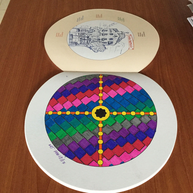Del libro \'Mandalas de Gaudí\' - Techo de la Casa Btelló #coloreando ...