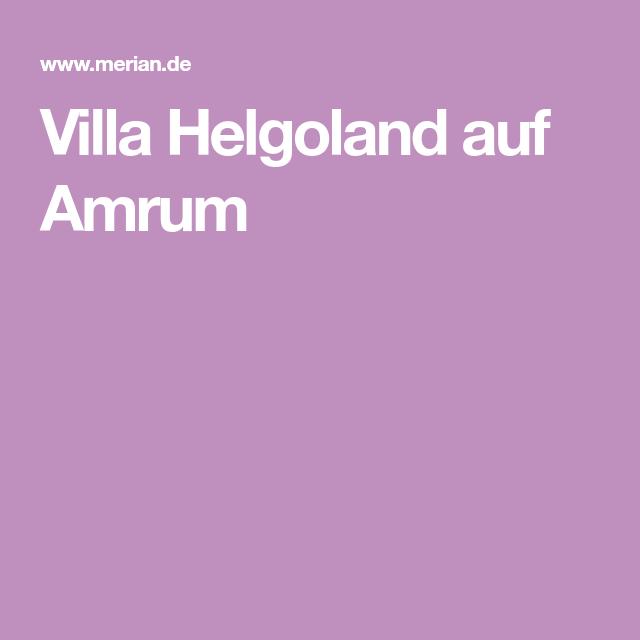 Villa Helgoland Amrum die schönsten ferienhäuser