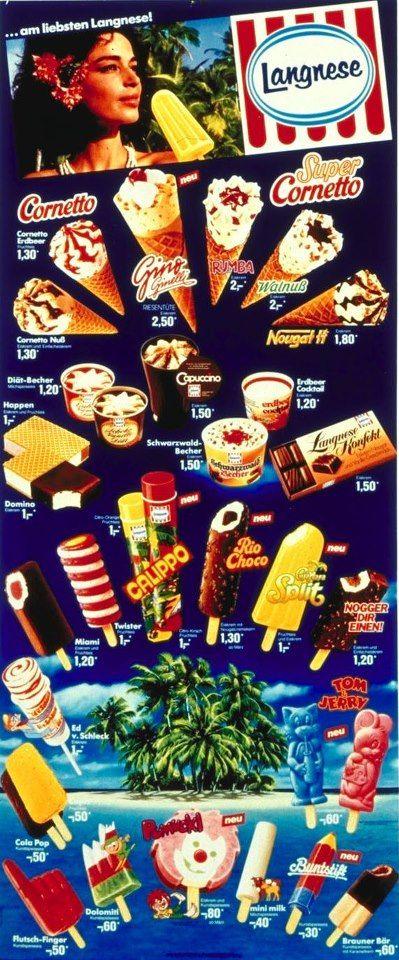 Langnese Eiskarte 80er
