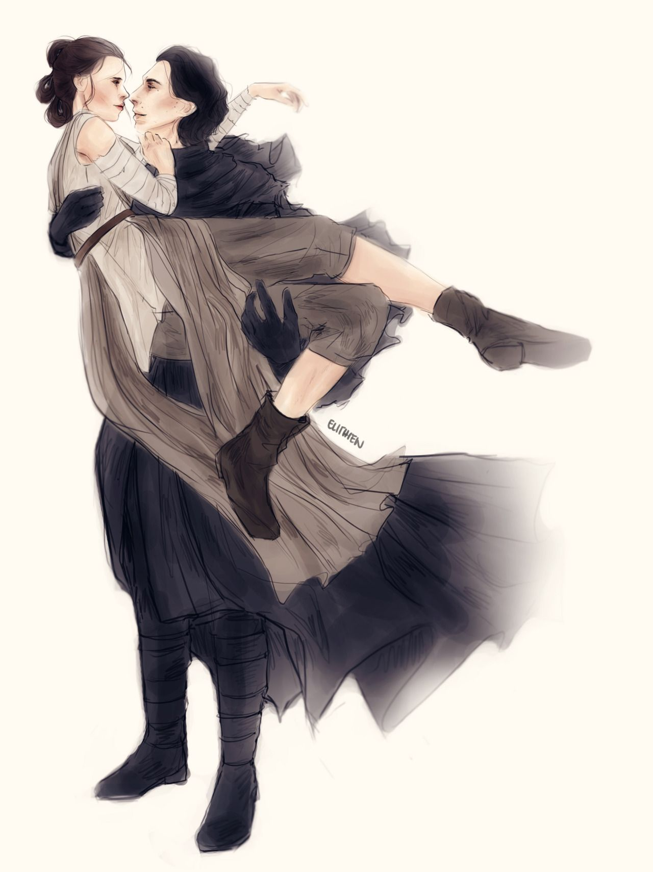 Elithien I Know Kylo Ren Bridal Style Carrying Rey Scene From The