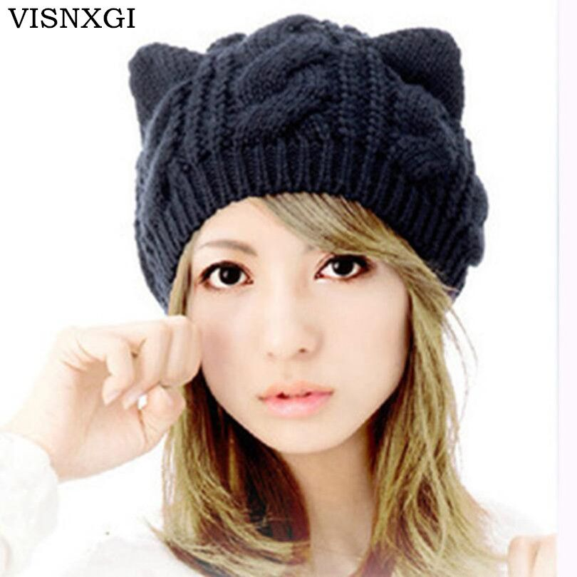 >> Click to Buy << VISNXGI High Quality Fashion Women's Autumn Caps Cat Ear Cute Knitted Hip Hop Casual Warm Men Winter Hat Female Skullies Beanies #Affiliate