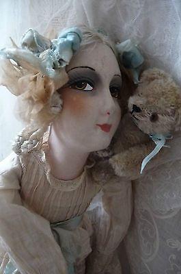 Antique French Boudoir Doll Paris Teddy Bear Fashion Doll C 1920   eBay