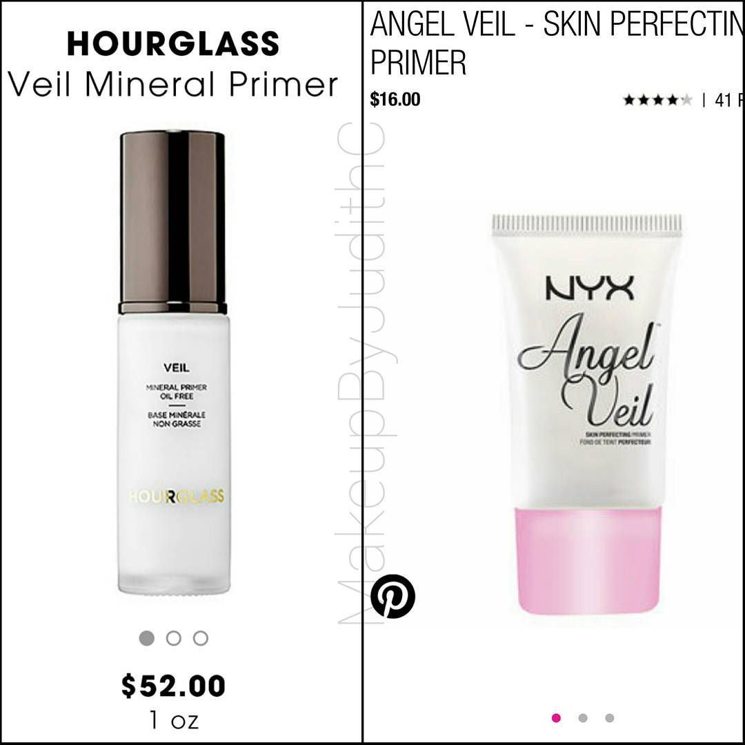 """7f319230e8 """" Nyxcosmetics angel veil is a great  dupe for the hour glass veil primer  Nyx   16.00 Hourglass   52.00 That s an  36.00 difference."""""""