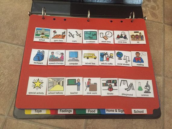 Visual Picture schedule communication book for by LearningSPED