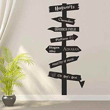 Road Sign Wall Decor Gorgeous Amazon Harry Potter Inspired Wood Road Sign Wall Decal 2018