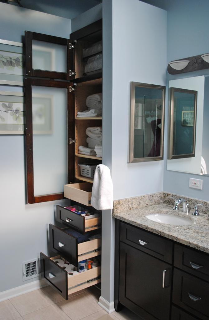 Linen Cabinet Components Minimalist Small Bathrooms Build A Closet Small Bathroom Remodel