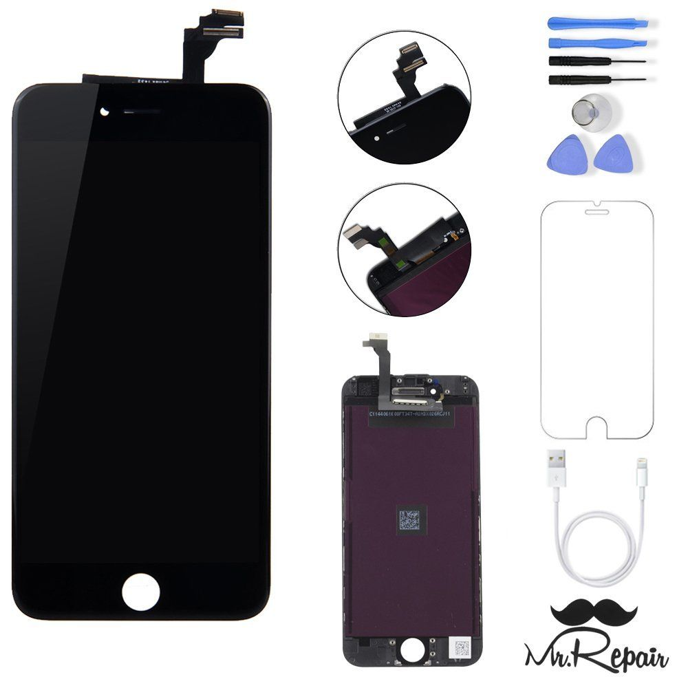 Black iphone 6 lcd display touch screen digitizer assembly