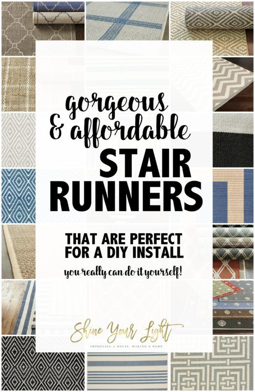 Sources And Tips For DIY Stair Runners   Shine Your Light