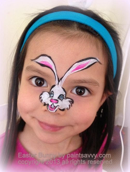 face painting of easter bunny jungle animal facepaint. Black Bedroom Furniture Sets. Home Design Ideas