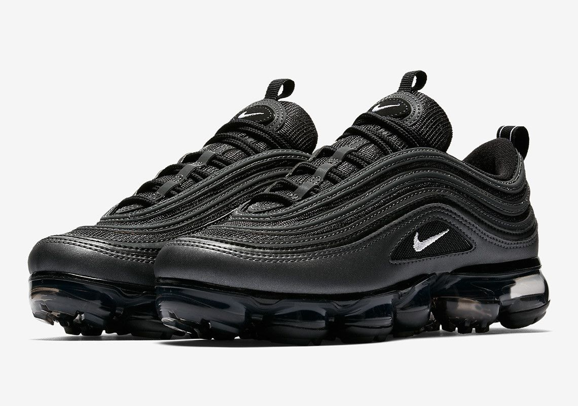 low priced 602cb d0603 Nike Air Max 97 Vapormax Triple Black Trainers