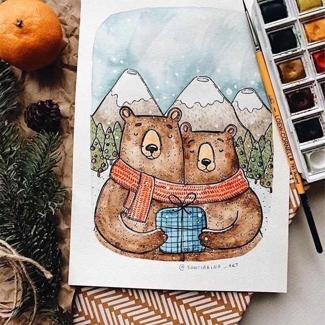 главное красивые зимние рисунки для скетчбука данной базе отдыха