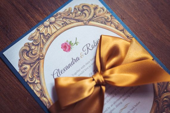 invitation inspired by beauty and the beast by gorgeousinvites tale as old as time wedding. Black Bedroom Furniture Sets. Home Design Ideas