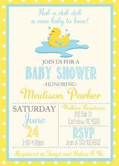 Vintage rubber duck baby shower invite invitation with rubber duck rubber ducky baby shower duck baby showers boy baby shower themes baby shower filmwisefo