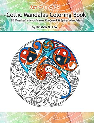 featured book celtic mandalas coloring book 20 original hand drawn celtic mandalas - Celtic Coloring Book