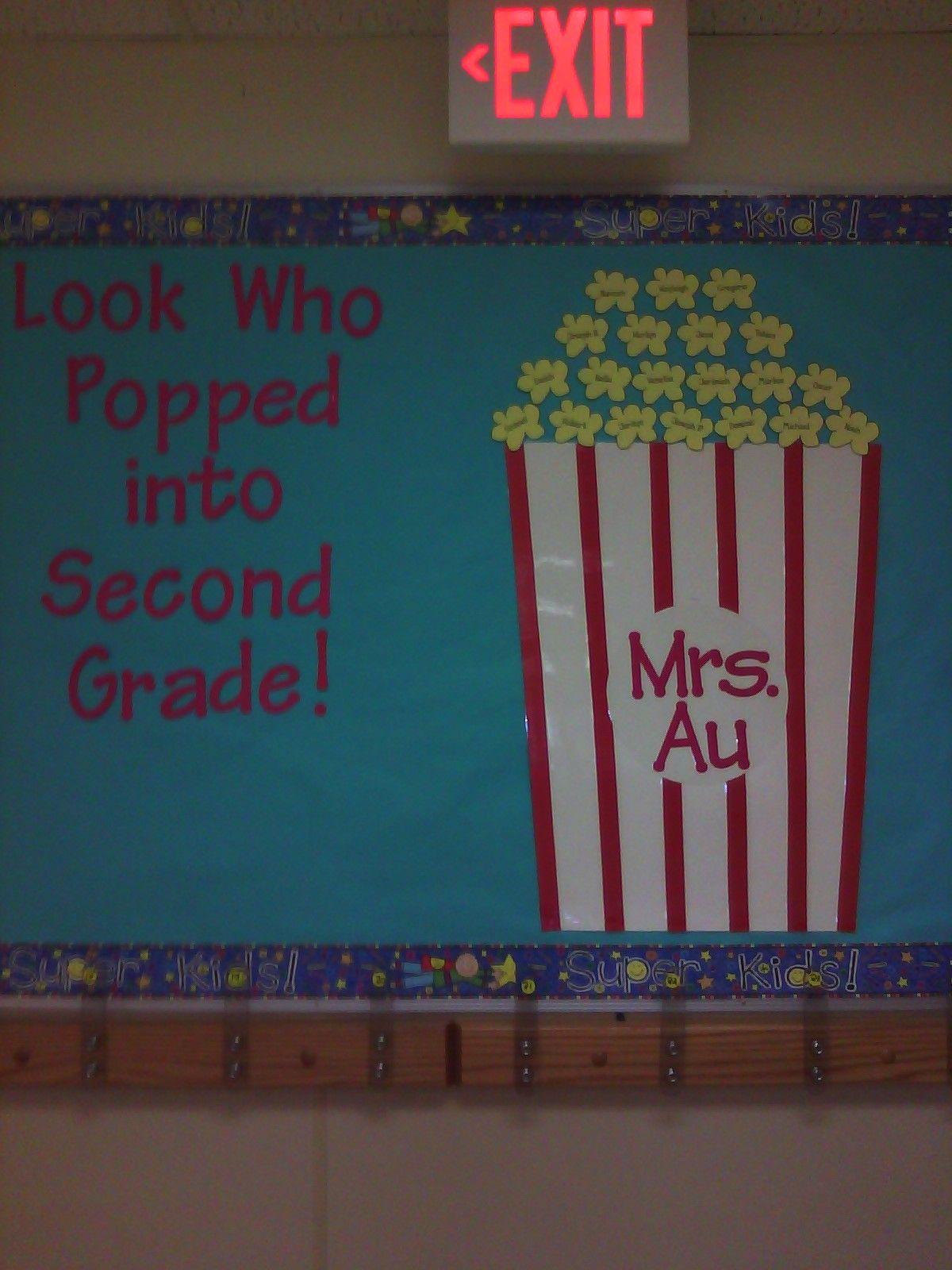 Second Grade Welcome Back To School Bulletin Board Ideas