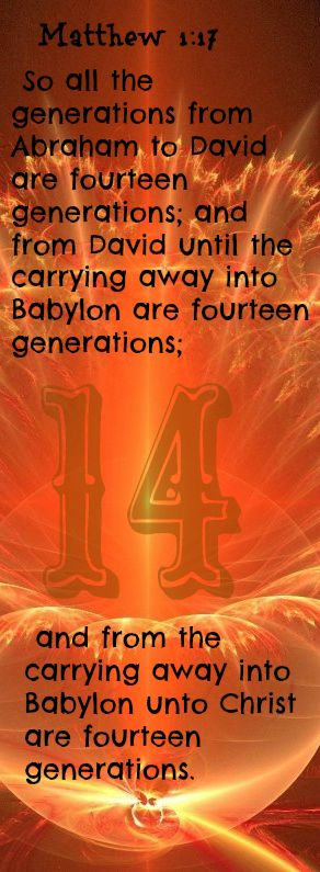 matthew 1 17 so all the generations from abraham to david are fourteen generations