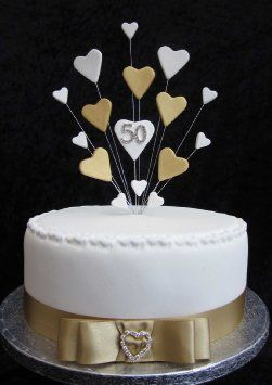 Torte Anniversario Di Matrimonio Pasta Di Zucchero.Dolci In Pasta Di Zucchero Nozze D Oro Cerca Con Google