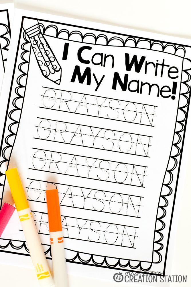 Name Writing Practice - Handwriting FREEBIE