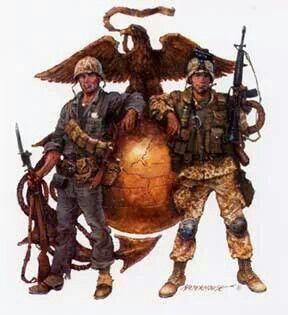 A* USMC EGA Eagle Globe Anchor Vinyl decal 6 year life Marines Grunt Military