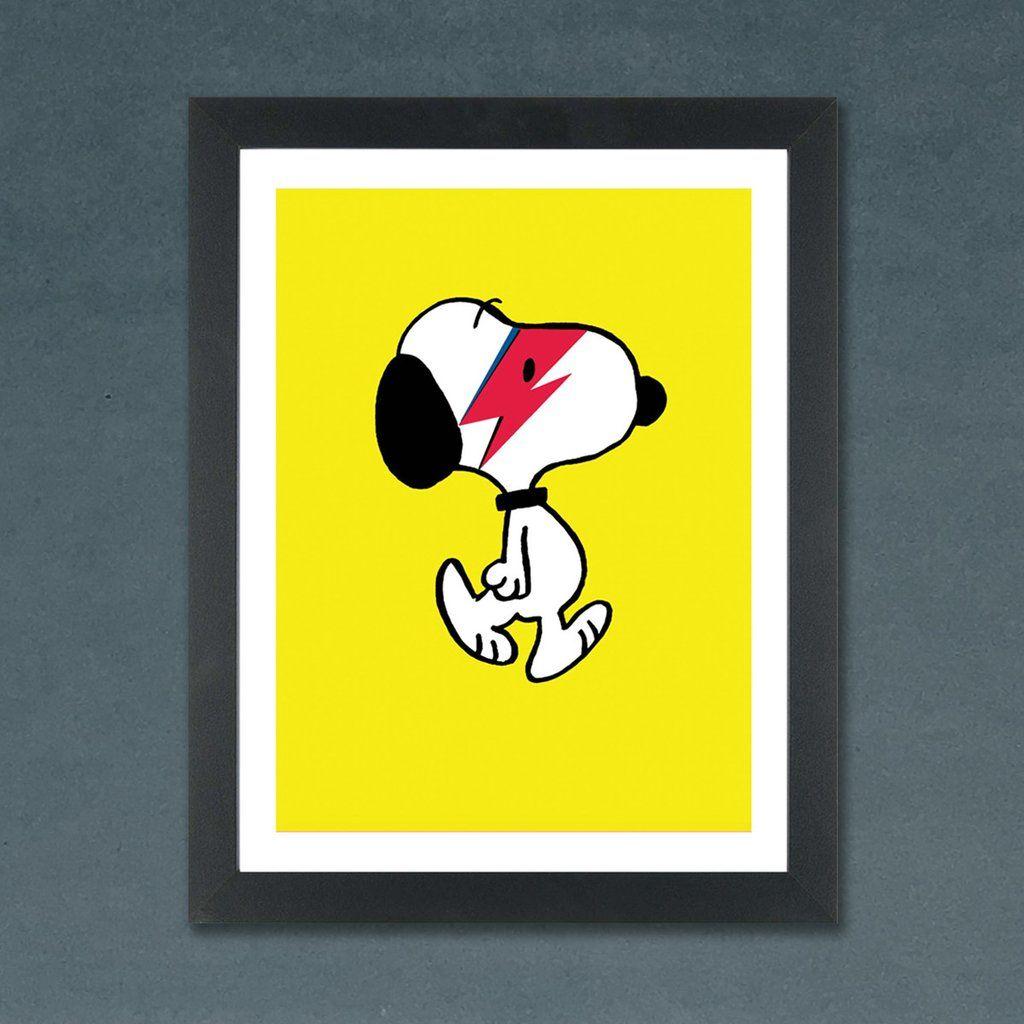 Snoopy as David Bowie Aladdin Sane Print | Pinterest | Aladdin sane ...