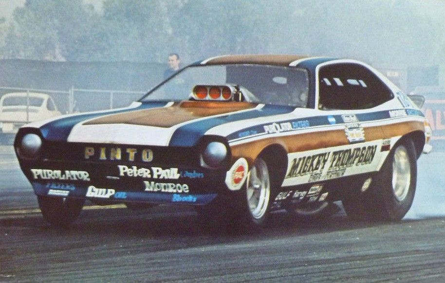 Vintage Drag Racing Funny Car Ford Pinto Mickey Thompson