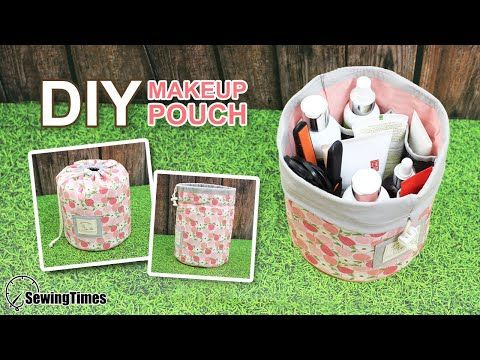 Photo of DIY MAKEUP STORAGE POUCH | Travel Cosmetic Bag Tutotial [sewingtimes]