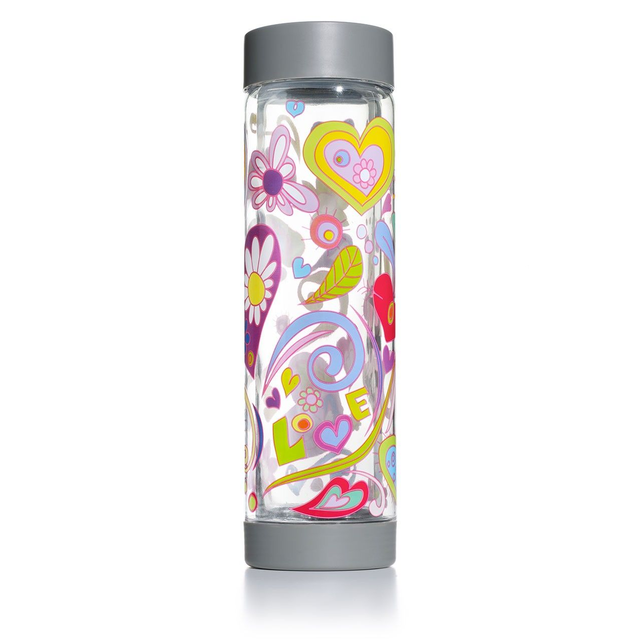 Glasstic Bottle Co. - Glasstic BPA Free Glass Water Bottle - Love Design, $24.99 (http://www.glassticbottle.com/glasstic-bpa-free-glass-water-bottle-love-design/)