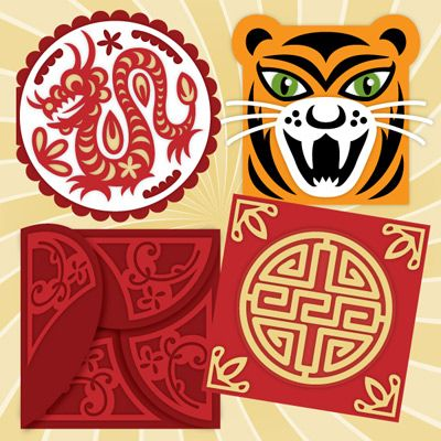 Chinese New Year Svg Kit 5 99 Svg Files For Silhouette Sizzix