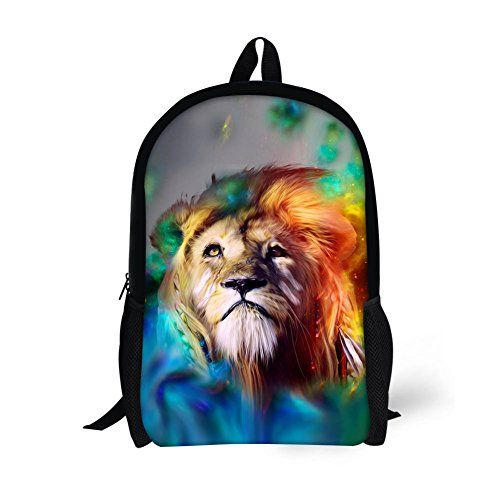 HUGSIDEA Colorful Lion Fashion Kids Schoolbag Student Sch... | Book ...