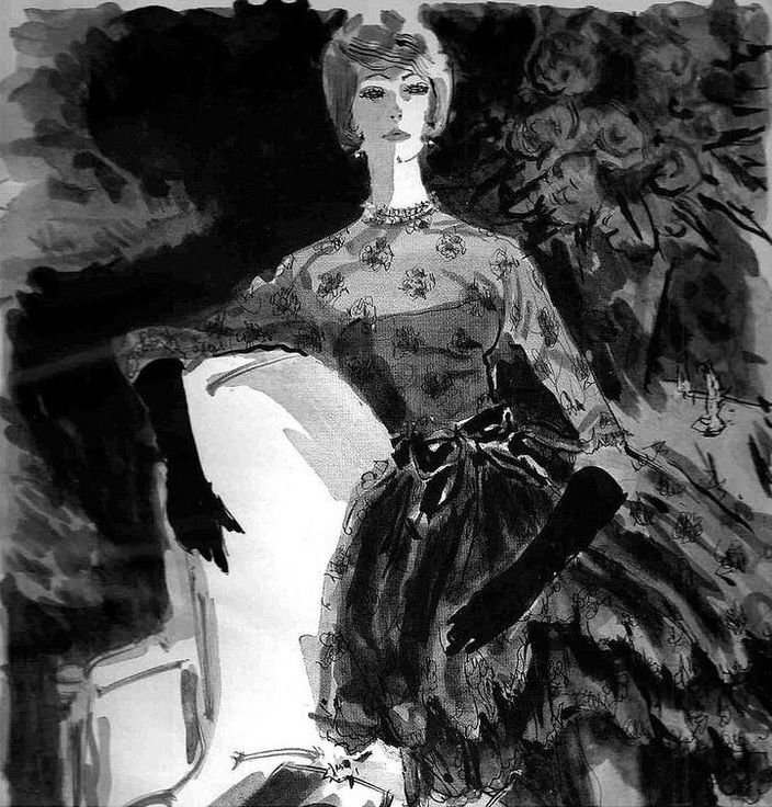 Simone, Illustrated by Wilson for Lord & Taylor advertisement, 1958