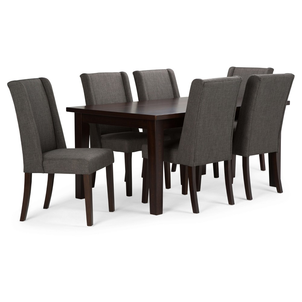 Sotherby 7 Piece Dining Set   Slate (Grey) Gray   Simpli Home