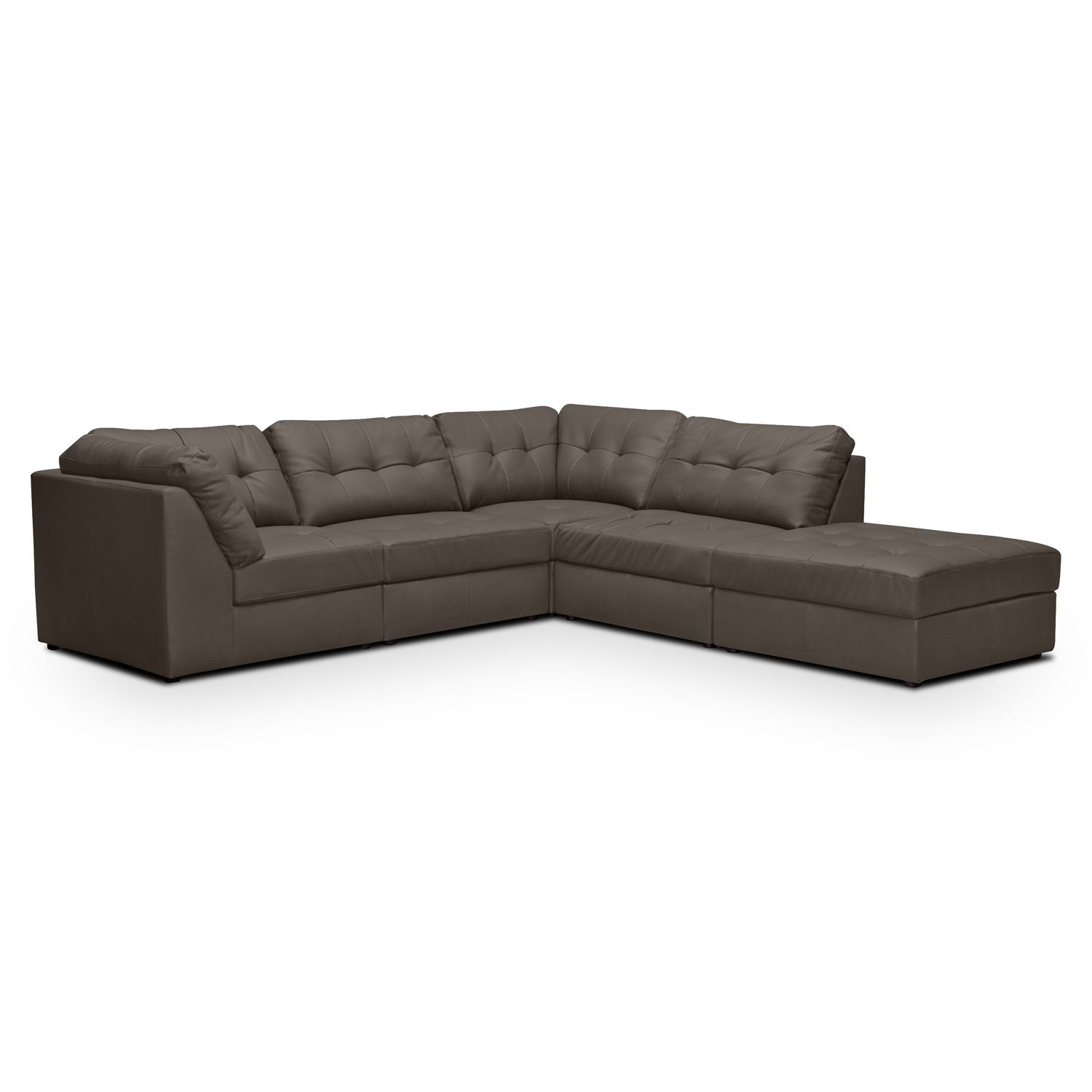 $1099 99 Aventura III Leather 5 Pc Sectional Value City