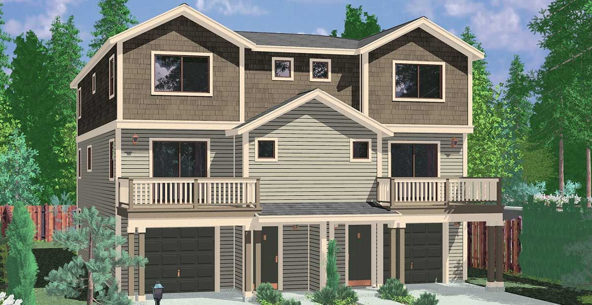 Executive town house design w office space town house for Townhouse duplex plans