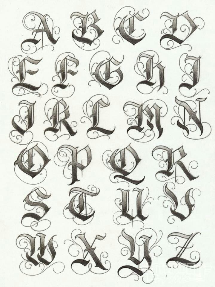 Pin De Carmen Salvador En Caligrafia Letras Para Tatuajes Letras