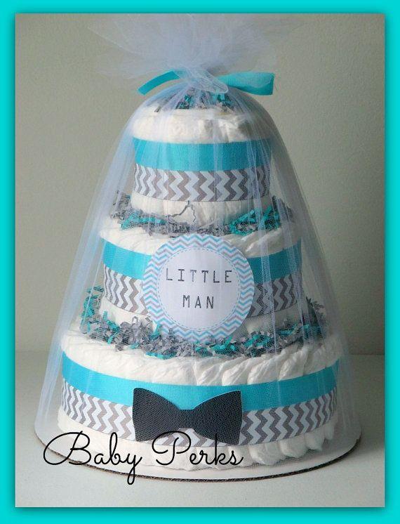 Little Man Diaper Cake Mustache Baby Shower Mustache Party