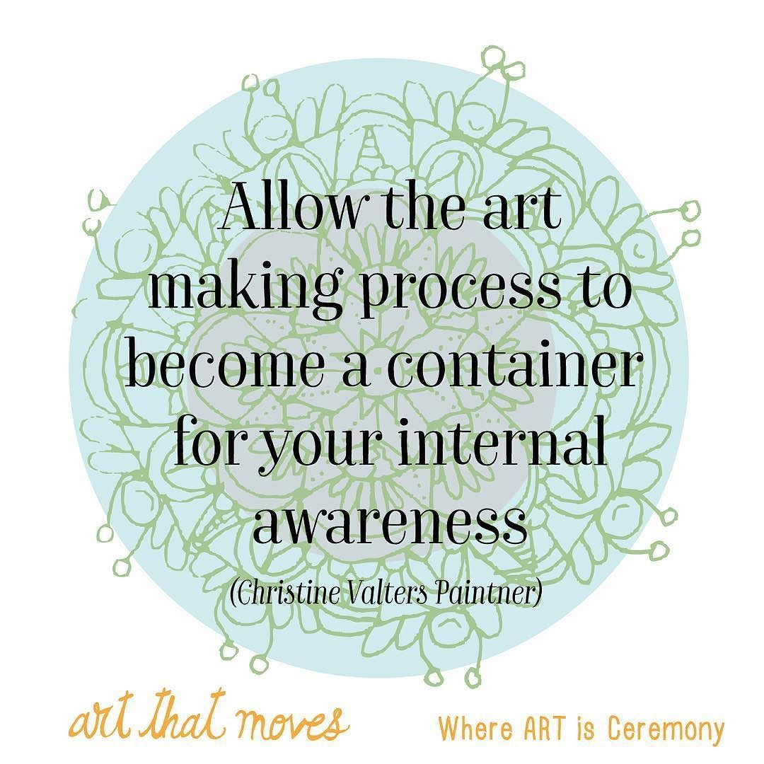 When you approach art as ceremony it will become a beautiful container for your awareness. A place to explore your inner landscape diving deep into the cool waters the magic forests and the vast deserts teaming with life. ... ... www.artthatmoves.ca Art That Moves where art is ceremony.