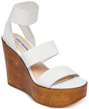 6220f413655 Steve Madden Women's Blondie Wedge Sandals - White 8.5M   Products ...